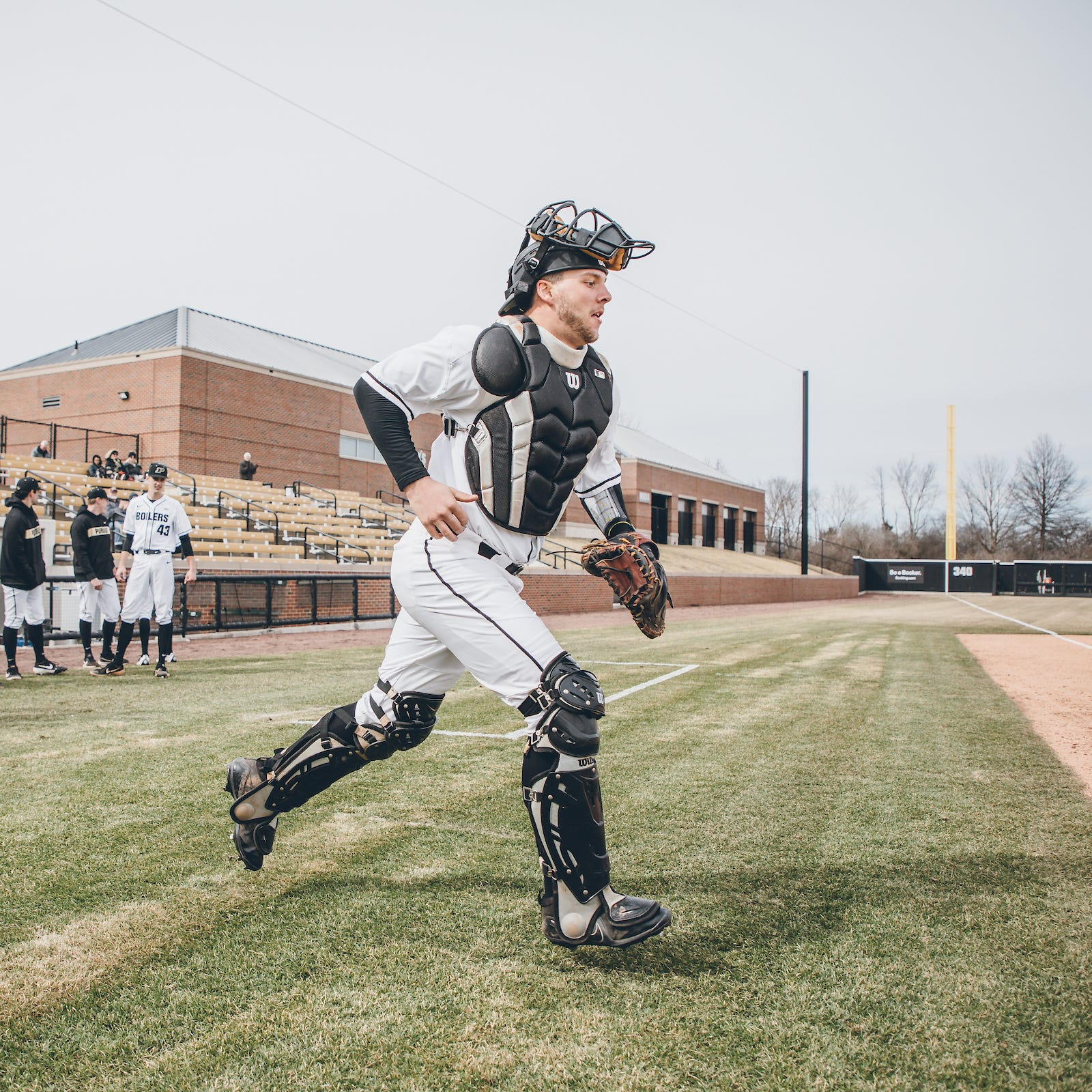 Purdue baseball's Zac Fascia moved from between the pipes to behind the plate
