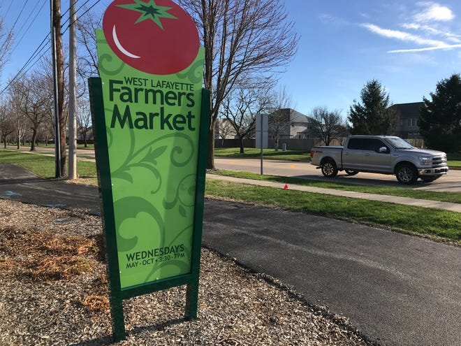 The West Lafayette Farmers Market is open Wednesday afternoons from May through October at Cumberland Park.