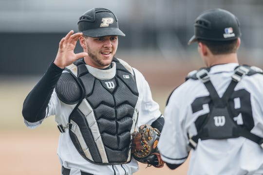 Purdue catcher Zac Fascia (left) was recently named to the Buster Posey Award watch list.