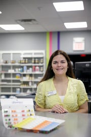 Natalie Schwartzel, owner of Medicap Pharmacy, 987 S. Creasy Lane, poses for a portrait, Tuesday, April 9, 2019, in Lafayette.