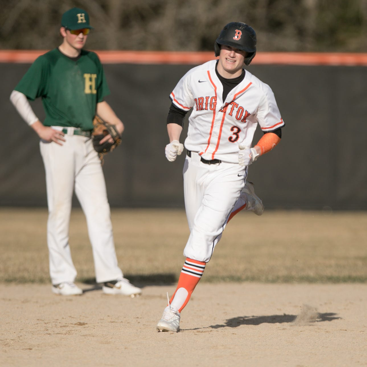 Zach Hopman homers twice, Brighton baseball overpowers Howell