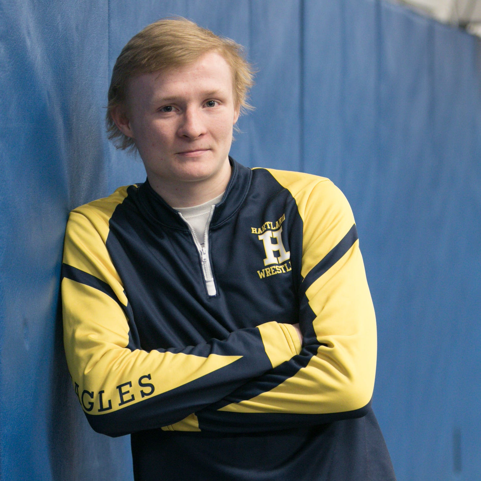 Wrestler of the Year Kyle Kantola of Hartland worked nonstop to become state champion