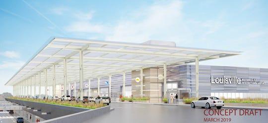 Renderings of the Louisville Muhammad Ali International Airport