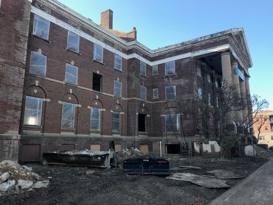 """""""Old Main"""" is a building that was part of the Michigan School for the Blind's 40-acre campus. A developer intends to restore the building for a 42-unit housing project."""