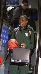 Cassius Winston and his MSU basketball teammates returned home this week from the Final Four in Minneapolis with boxes of self-lacing Nike Adapt BB shoes.