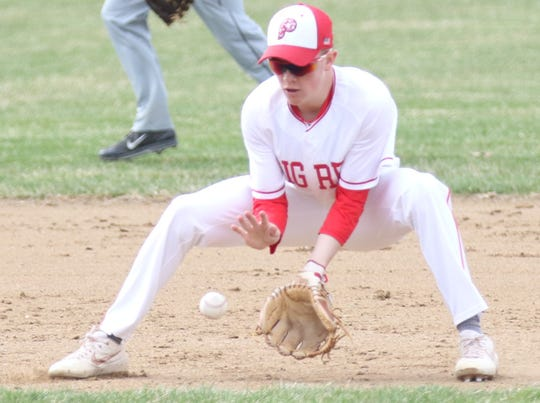 Plymouth's Walker Elliott leads the Big Red in stolen bases with 13.