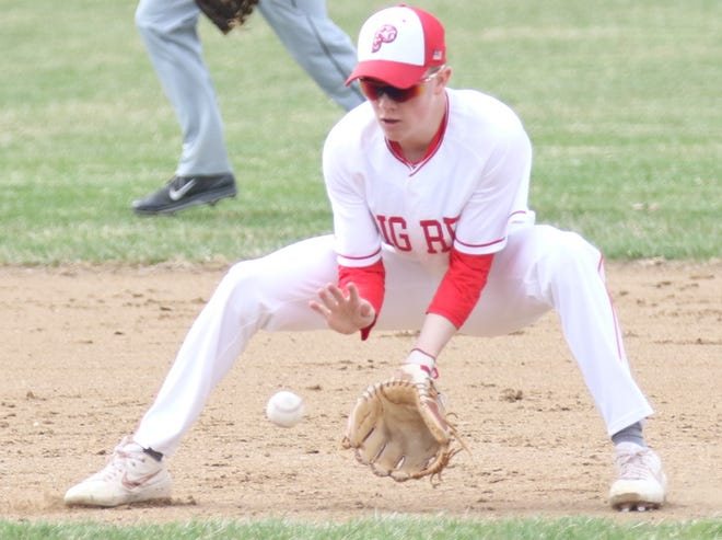 Plymouth's Walker Elliott returns as the leader of the Big Red baseball team.