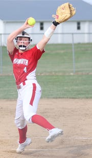 Plymouth's Mallory Miller got herself out of jams in the third, fourth and fifth innings to preserve a Big Red lead before Crestview took advantage of two errors to win 5-3 on Monday.