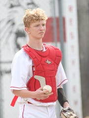 Plymouth sophomore Clayton Miller brings experience to the catcher position in 2020.