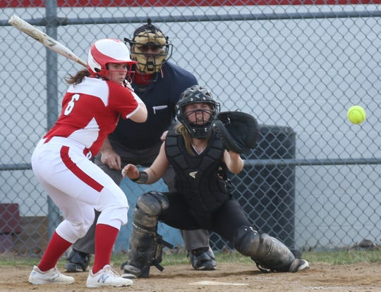 Plymouth's Tristen Wiley leaded the Lady Big Red with a .577 batting average through eight games.