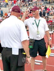 Phil Horvath, a 1965 Mansfield Senior graduate, has been a fixture as head umpire at both the Mehock Relays and state track and field meet.