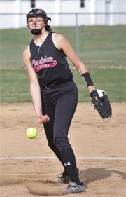 Crestview's Kylie Ringer earned the win in the circle allowing three runs with 12 strikeouts beating Plymouth 5-3.