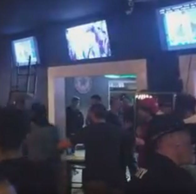 Video shows fight inside The Patio; shots heard outside