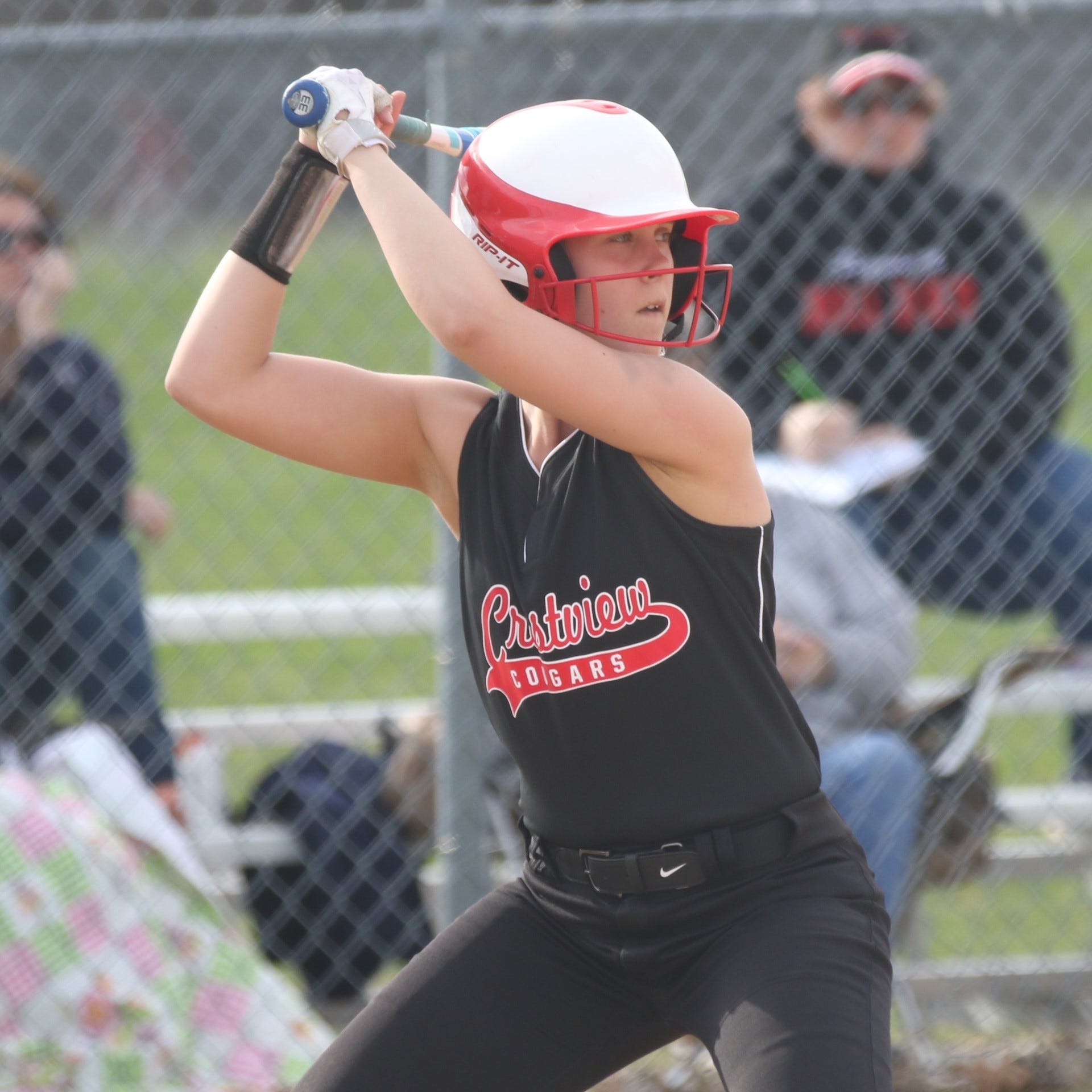 Big sixth inning gives Crestview Lady Cougars the win over the Plymouth Lady Big Red