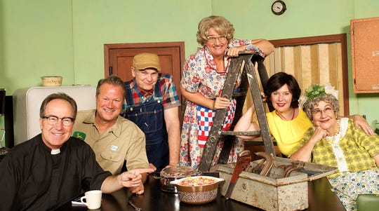 """The Church Basement Ladies will perform """"Rise Up, O Men"""" April 13 at Marion Palace Theatre."""