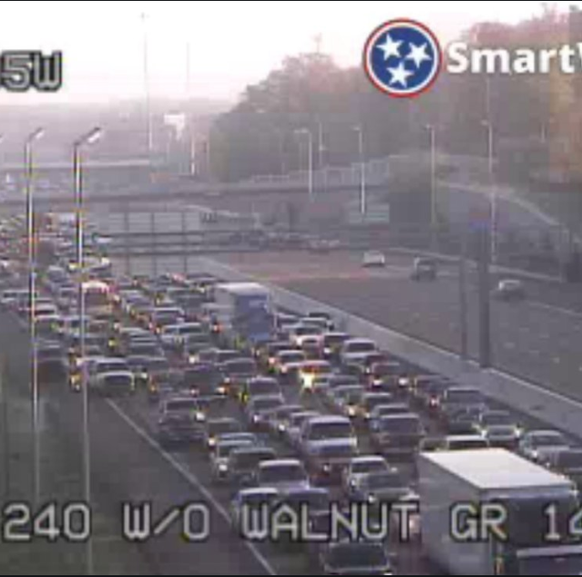 Fatal car wreck halts interstate traffic at I-240 and Poplar