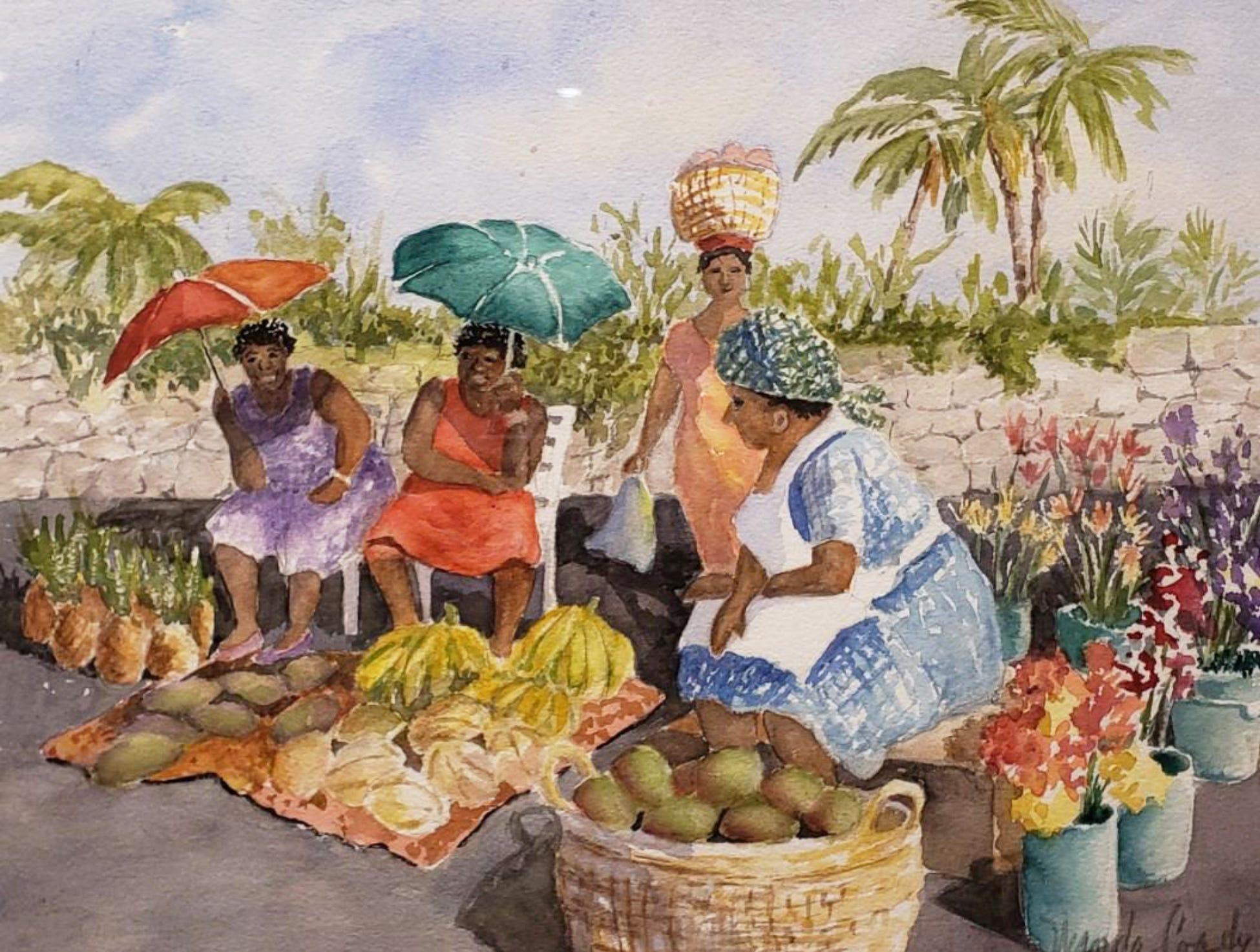 """""""Happy Vendors"""" by Wanda Coady"""