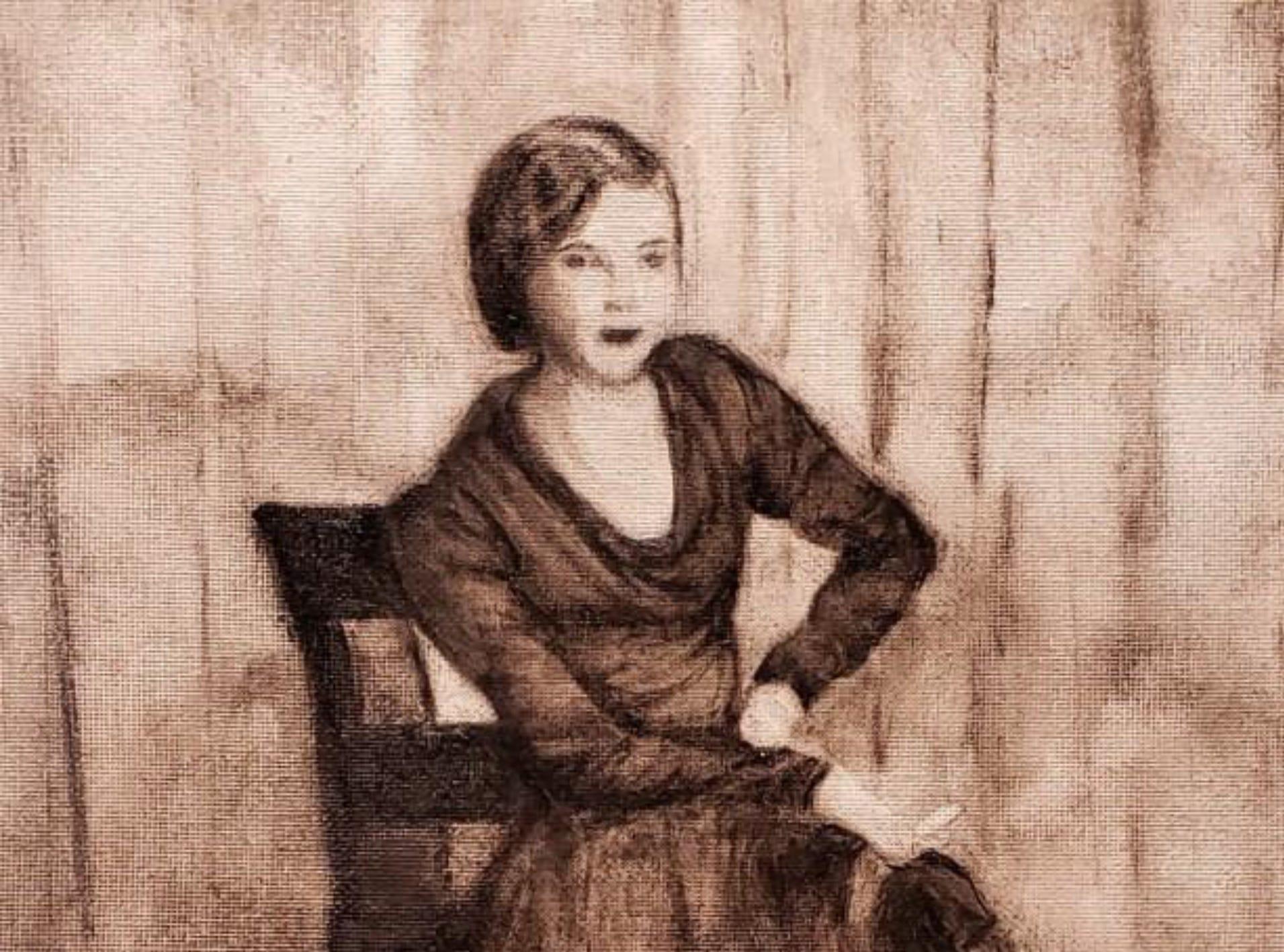 """Harriet Smoking Circa 1938"" by Judith O'Brien."