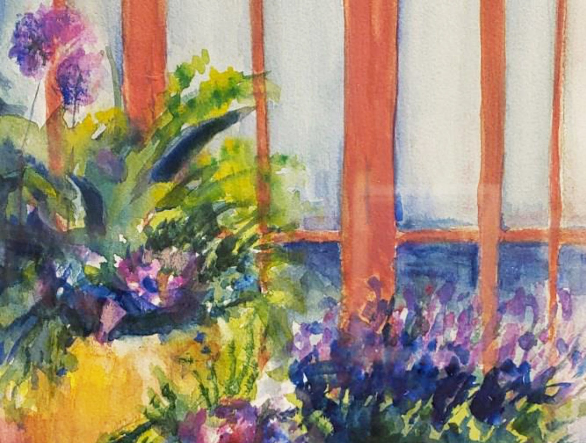 """""""Blooms on the Front Porch"""" by Hope Hanley."""