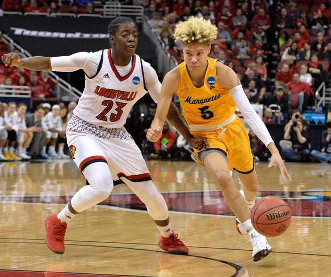 Former Marquette player Natisha Hiedeman was signed by the Connecticut Sun on Wednesday.