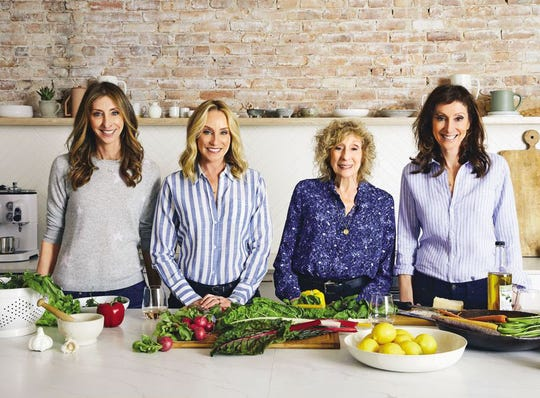 "From left, Dana, Tracy, Corky and Lori Pollan worked together to produce the cookbook ""Mostly Plants,"" based on the food philosophy of their brother and son, Michael Pollan."