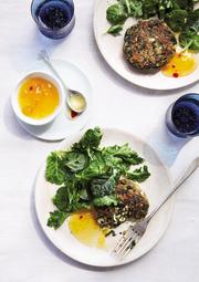 Vegetarian Spinach, Mushroom and Feta Cutlets were inspired by the Greek dish spanakopita.