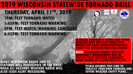 A statewide tornado drill is scheduled for Friday.