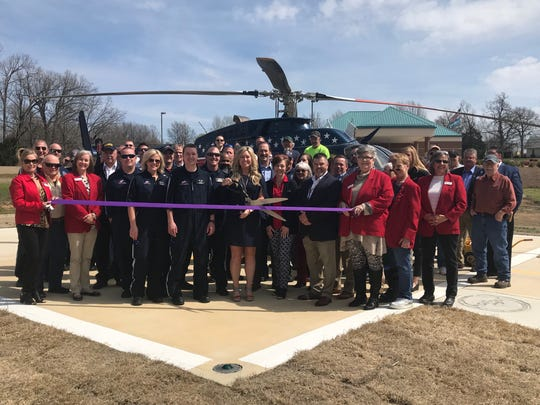 Chamber Ambassadors recently cut the ribbon for Air Evac's new location. Air Evac Lifeteam is the largest independently owned and operated membership-supported air ambulance service in the United States, with more than 125 bases across 15 states. An Air Evac Lifeteam membership (participating provider in the AirMedCare Network) costs just $85 per year for your entire household (senior and Chamber member discounts are available). More than 3 million people are covered by the AirMedCare Network. Membership covers you for emergency transport with participating providers across 38 states. For more information on membership contact Tina Vincent at tina.vincent@airmedcarenetwork.com or (417) 293-2535. Air Evac is located at 549 Hospital Dr. in Mountain Home.