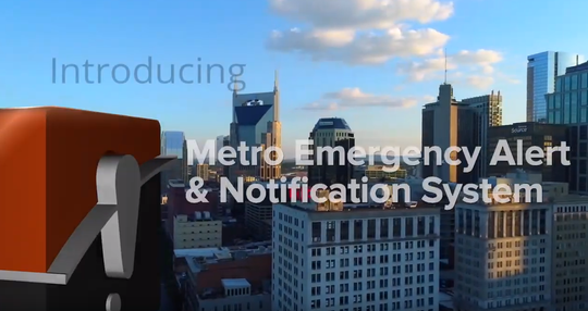 Nashville has a new emergency alert system.