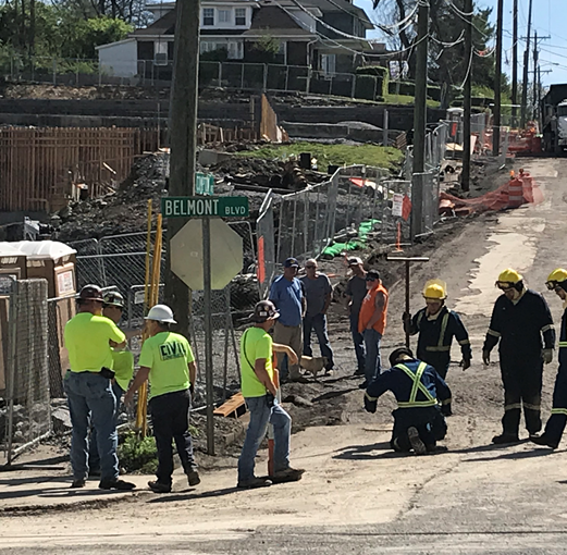 Scene cleared after natural gas leak near Belmont University