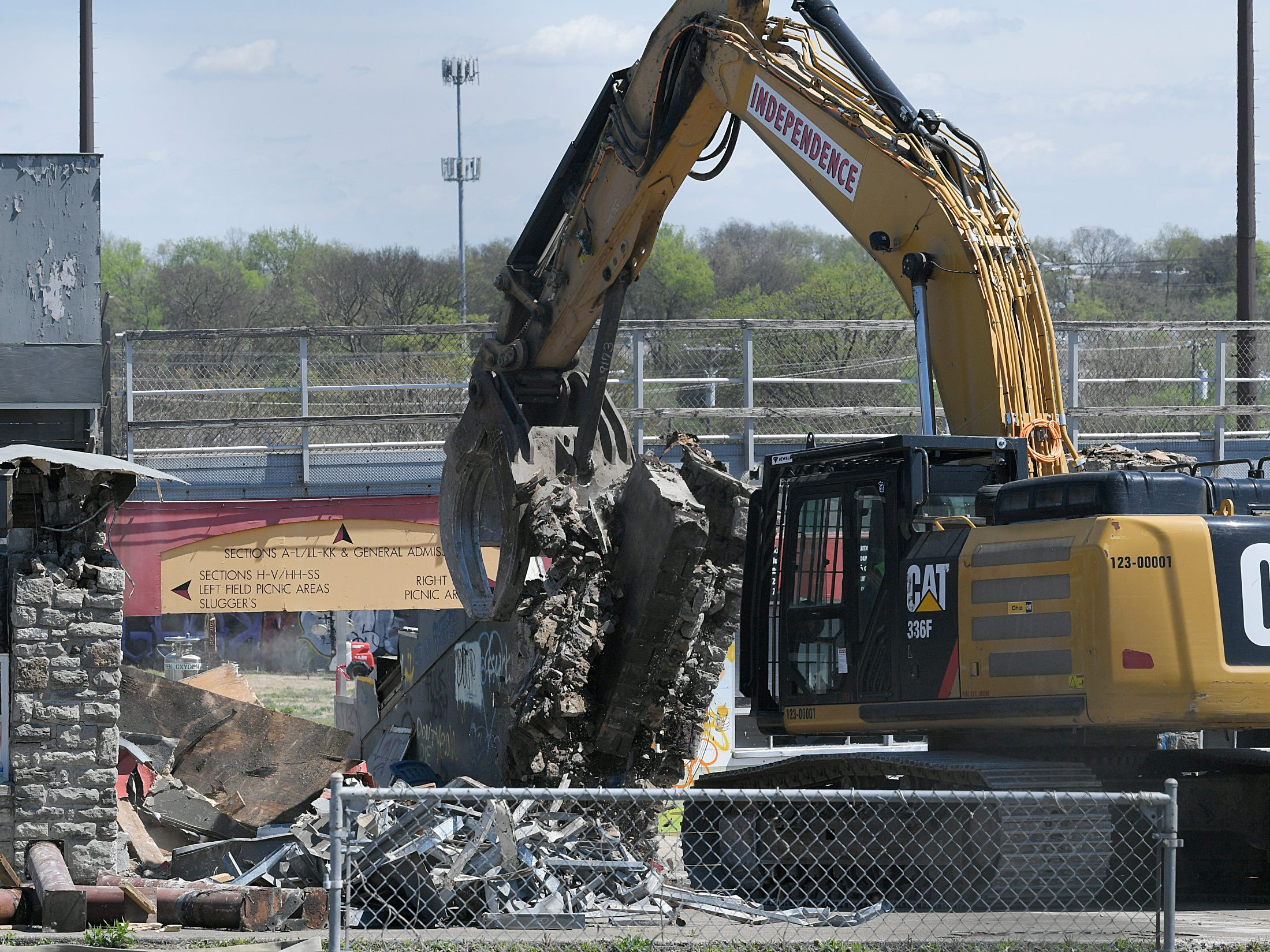 Demolition of Greer Stadium has started. Crews begin tearing down the 41-year-old stadium which opened in 1978 as the home of the Nashville Sounds minor league baseball team, but the team moved to the new First Tennessee Park in Germantown in 2015.