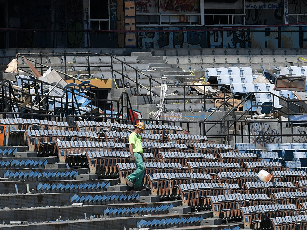 Demolition of Greer Stadium has started. Crews begin tearing down the 41-year- old building. The stadium opened in 1978 as the home of the Nashville Sounds minor league baseball team, but the team moved to the new First Tennessee Park in Germantown in 2015.