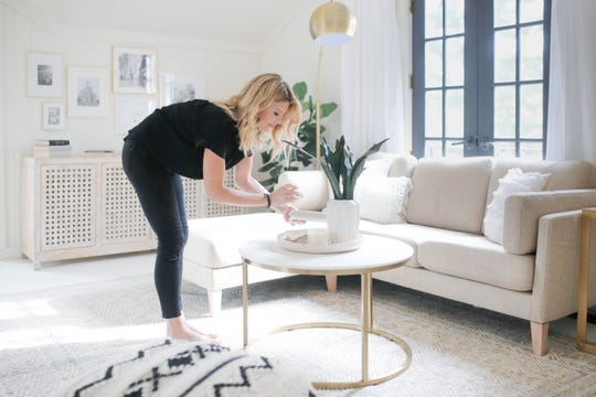 Lifestyle influencer Landyn Hutchinson partnered with Carbine & Associates on their designer showhouse, featured by Domino.com, by creating a signature drink.  She regularly uses Instagram to connect and poll her thousands of followers.
