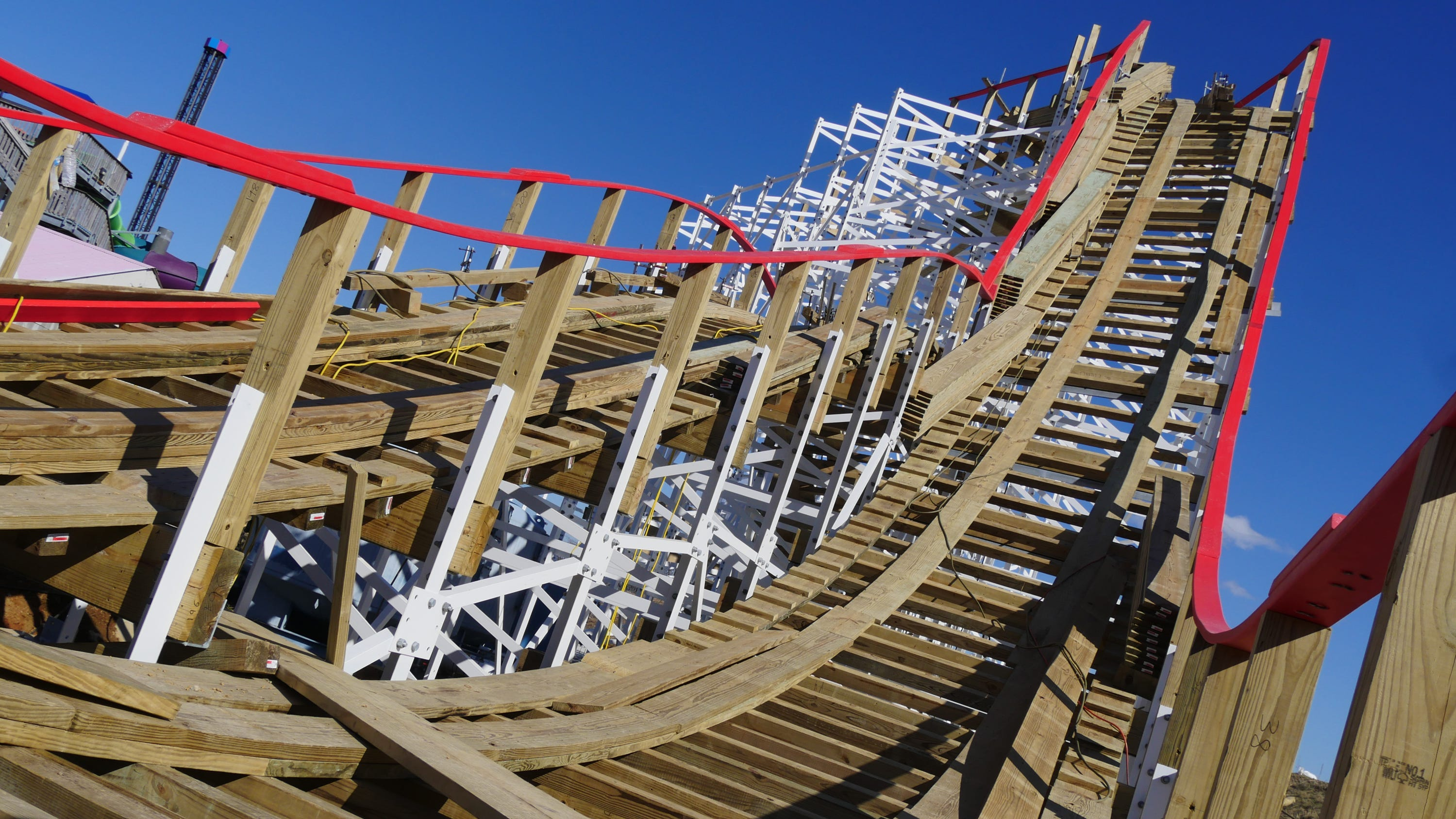 The Kentucky Flyer, Kentucky Kingdom's newest roller coaster, is closer to taking flight.