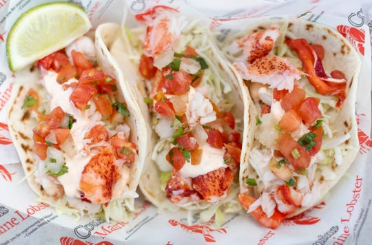 Lobster tacos are a featured item at Cousins Maine Lobster, which has a food truck opening this spring at Celebration Park off Bayshore Drive in East Naples.