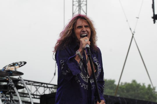 Whitesnake,  rocks the main stage at Rock USA on July 16, 2015, the second night of the four day music festival held at Ford Festival Park in Oshkosh.