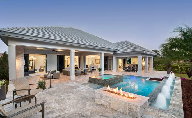 Owners can have unique features that suit their lifestyle, such as a dramatic outdoor living space shown here.