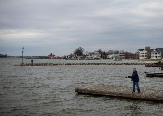 Randy Carns of Zanesville spens a morning fishing at the North Shore at Buckeye Lake.