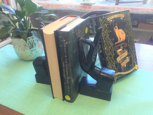Vintage bookends like these are among the new decor touches finding their way into Readers' Garden.