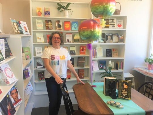 Kim Keethler Ball is the new owner of the Readers' Garden Book Store in downtown Granville. Among the new touches she's brought to the shop is a seating area where book talks can happen.