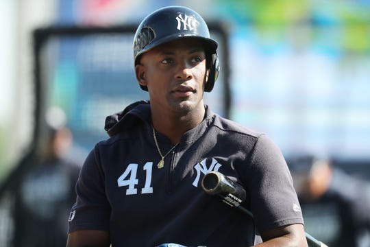 New York Yankees third baseman Miguel Andujar is scheduled to begin a throwing program Wednesday.