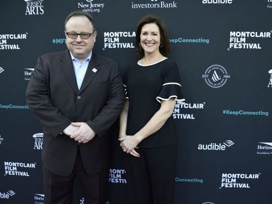Director Tom Hall and president Evelyn Colbert at opening night of the 2018 Montclair Film Festival.