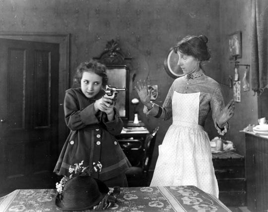 """Bessie Love, left, in """"Her Great Adventure,"""" also known as """"The Spring of the Year,"""" a film by Alice Guy Blache"""