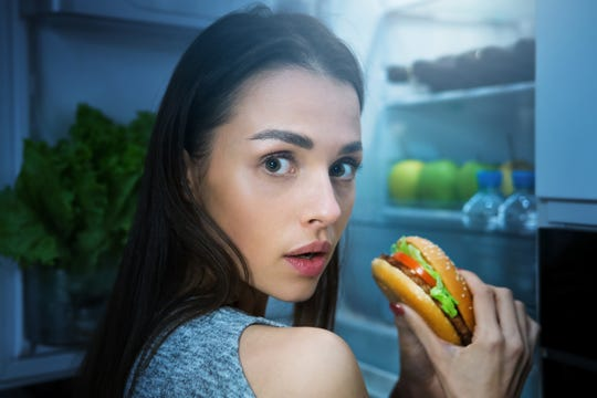 Snacking at night won't make you gain weight, though it could give you memorable dreams.