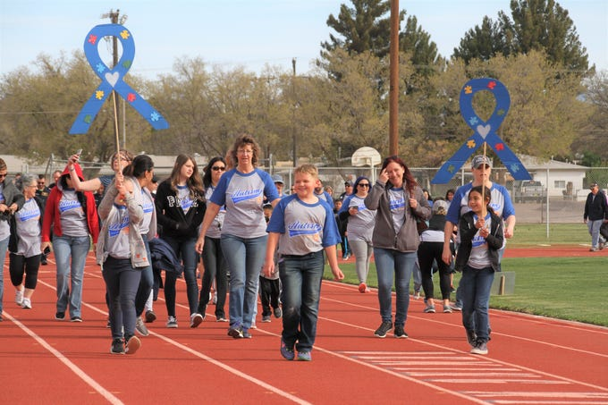 Approiximately 300 people attended this year's Deming Autism Awareness Walk.