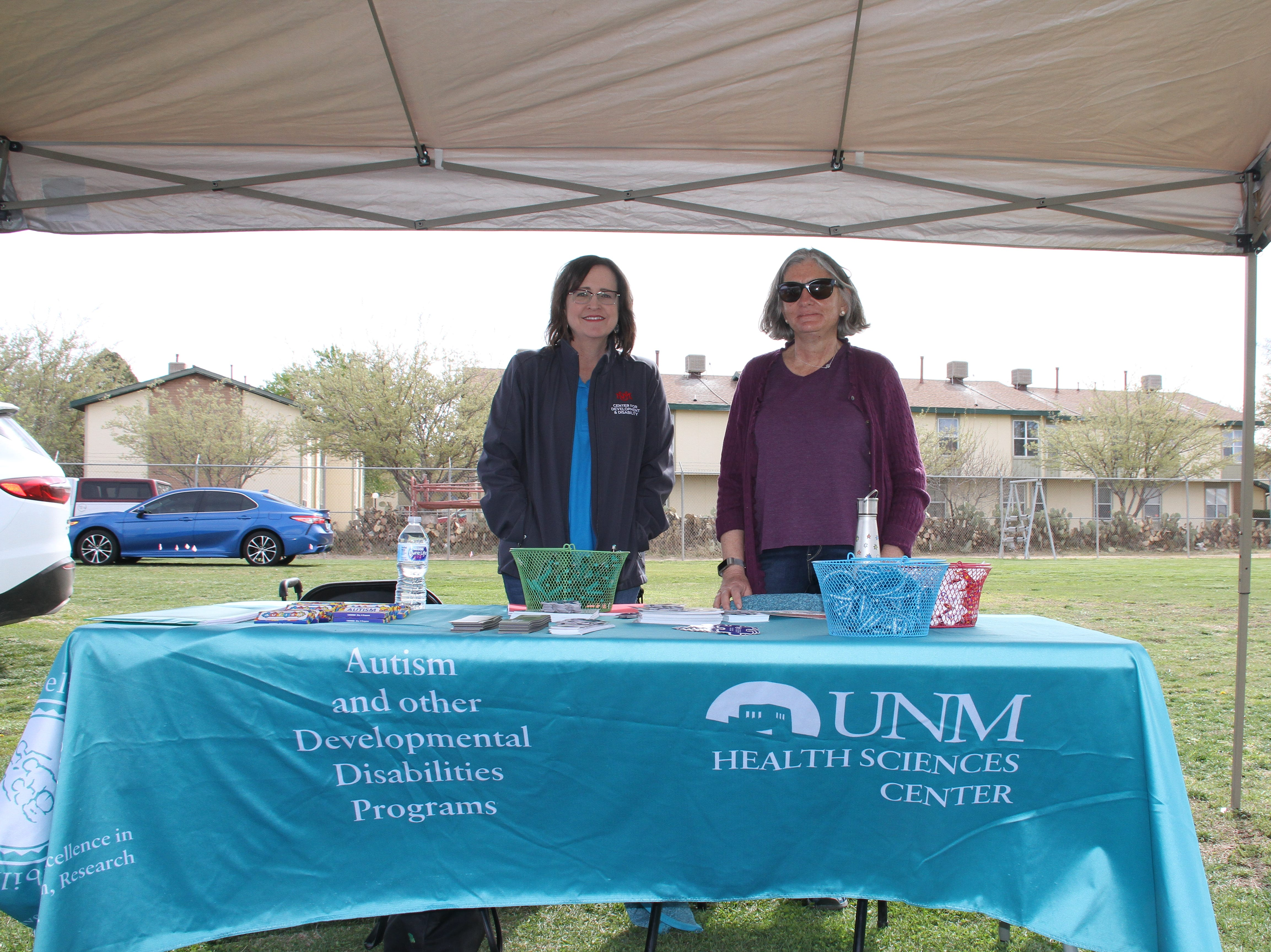 From left, Lauriann King and Gay Finlayson from the University of New Mexico's Center for Development and Disablility department.