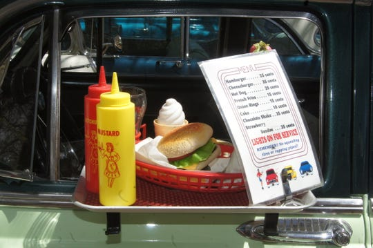 This sedan added a touch of nostalgia to the carhop era.