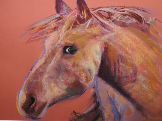 """Thirty-four of Dinah Swan's pastel paintings are featured in the show, """"Animals of the Southwest,"""" opening April 12 at the New Mexico Farm & Ranch Heritage Museum."""
