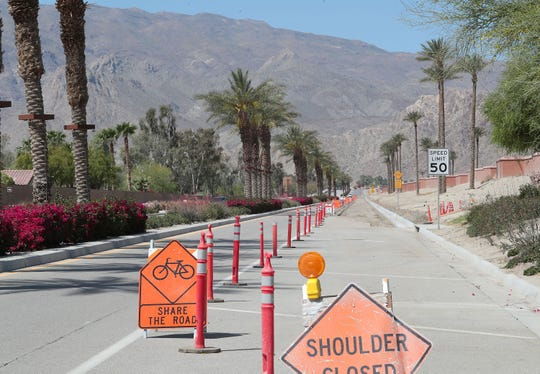 The north side of Avenue 60 on April 9, 2019, which is being widened from Madison Street to Monroe Street in La Quinta to include a second traffic lane, wider bicycle lane and ultimately a landscaped sidewalk. The improvements are being done and paid for by owners of the Andalusia residential community and is something Trilogy residents have long awaited.