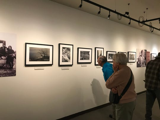 """Visitors to the La Quinta Museum learn about early residents, Susie Keef Smith and Lula Mae Graves, through their photos. """"Postcards from Mecca"""" is on exhibit through May 11, 2019."""